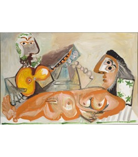 Nu couché et Homme jouant de la guitare
